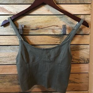 American Eagle Olive Green Crop Top S